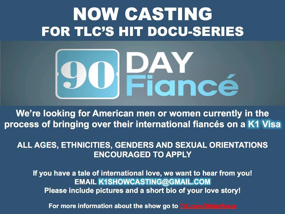 Audition for 90 Day Fiance TV Show 2019 | Auditions Free