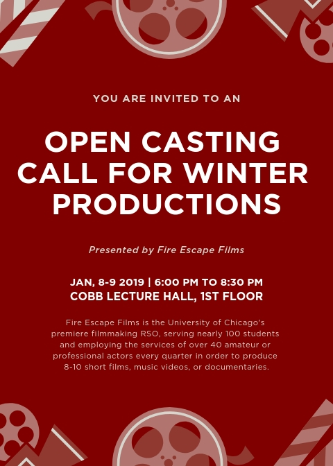 Open Casting Call in Chicago for a Variety of Student Films