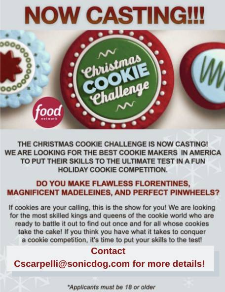 Christmas Cookie Recipes 2019.Casting Nationwide For The Christmas Cookie Challenge