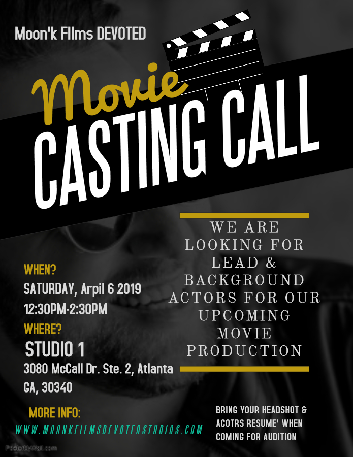 Open Auditions in Atlanta for Film Roles in