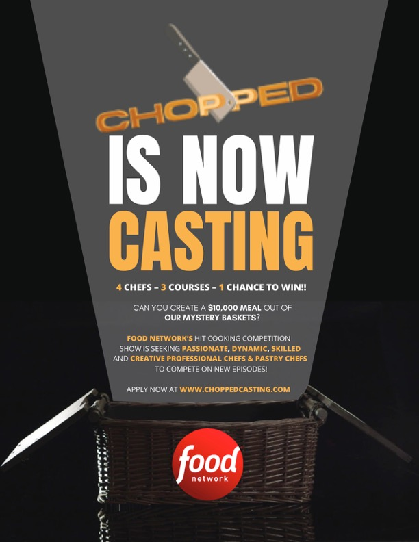 Casting Call for Female Chefs for Food Network's Chopped | Auditions