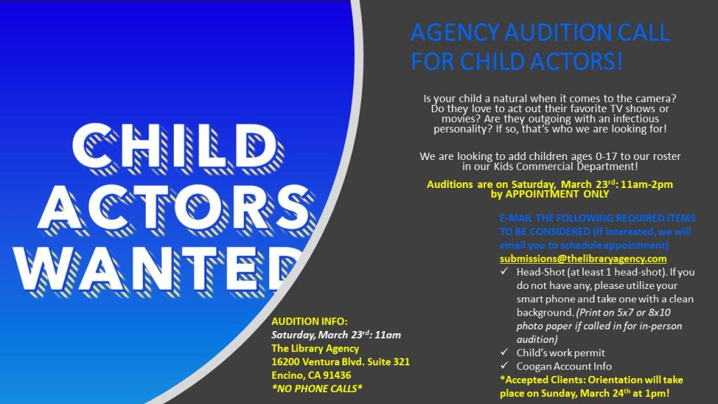 Open Auditions for Kids in Los Angeles | Auditions Free