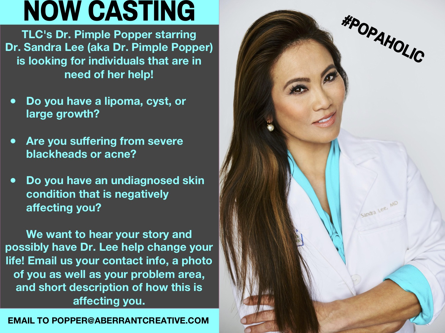 Tlc Show Dr Pimple Popper Casting Nationwide Auditions Free