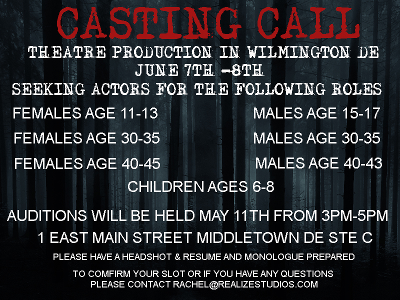 Theater Auditions in Middletown, Delaware | Auditions Free