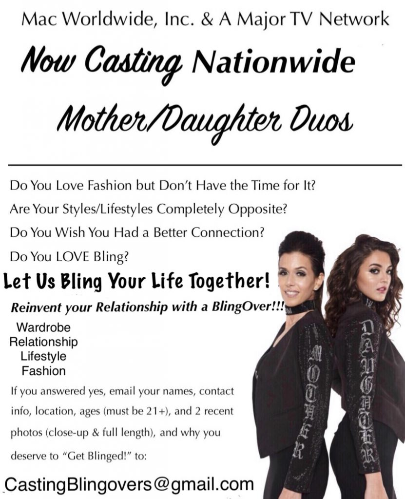 Casting Moms & Their Adult Daughters in NYC for a Bling Over