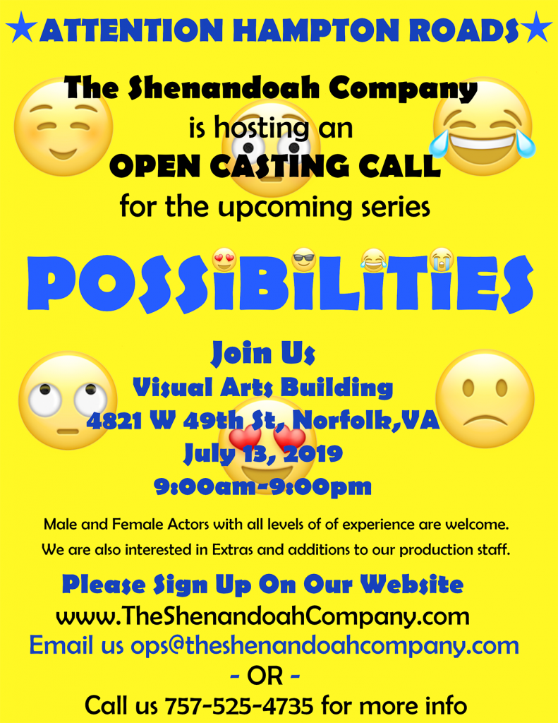 Acting Auditions in Virginia for