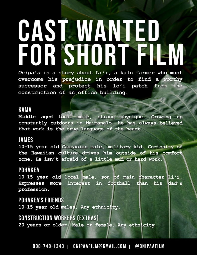Auditions In Honolulu Hawaii For Student Film Project Auditions Free